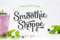 Smoothie Shoppe Free Typeface is a bold, yet sweet, modern version of Emily Spadoni's favorite retro display fonts Font Design, Web Design, Graphic Design, Typography Design, Design Ideas, Police Script, Free Typeface, Best Free Fonts, Font Free