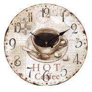 Relógio de parede MDF Hot Coffe Oldway