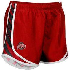 Nike Ohio State Buckeyes Ladies Scarlet Striped Tempo Performance Shorts