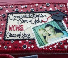 Graduation cake with edible image.