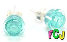 Translucent Light Blue Stud Earrings