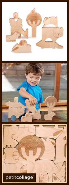 Forest Friends Wood Puzzle + Play