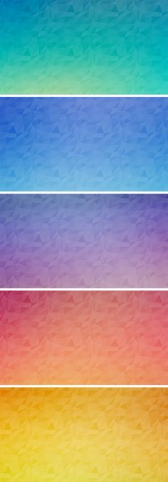 Seamless Polygon Backgrounds Vol.2 | GraphicBurger