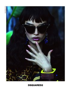 Luma Grothe Gets Tropical for DSquared2 Spring/Summer 2014 Campaign