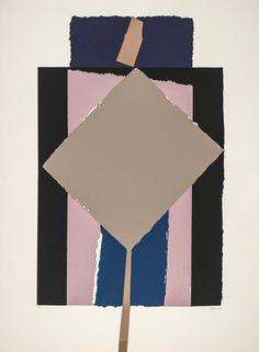 "Gerardo Rueda [Spain] (1926 - 1996) ~ ""Monument"", 1990. Serigrafia (69 x 51 cm). | #art #abstract #print #collage"