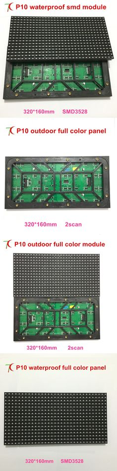 Factory direct sales P10 2scan outdoor waterproof full color led module,320*160mm