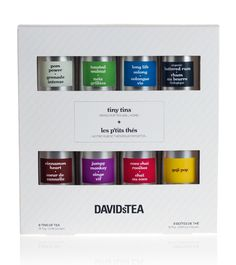 David's Tea Sampler. bright, yummy, and a great gift.