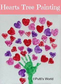 A lovely Hearts Tree Painting for Valentines Day!