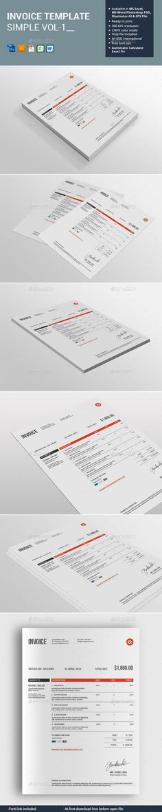 Invoice Bundle Template - invoice style