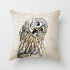 Fine Art Photography Accent Pillow Rustic Owl Nature Inspired Bird Print Throw Pillow Home & Office Decor Pillow Sham Sofa Pillows, Accent Pillows, Throw Pillows, Sofa Throw, Throw Pillow Covers, Pillow Shams, Decorative Items, Decorative Pillows, Fine Art Photography