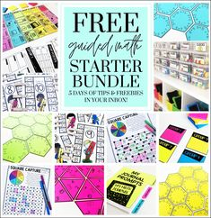 I LOVE math, and I'm so excited to be sharing this Free Guided Math Starter Bundle with you! If you're looking to start teaching small group math, or wanting to switch up your current math block, you're in the right place!