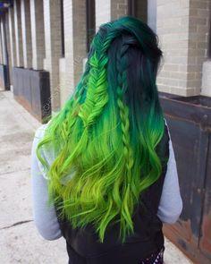 All @pravana Green+Black Additive, Green, Neon Green, Neon Yellow. Done by #TAgrad @christinakreitel