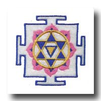 Lakshmi Yantra:  Lakshmi is the Hindu goddess representative of fortune, light, luck, and beauty. She herself is beautiful and benevolent. Associated with the lotus, her yantra facilitates spiritual progress, enlightenment, and overcoming internal discourse. When focused upon, the Lakshmi energies are engaged and said to expedite abundant wealth, harmony, and tranquility to our lives.