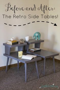 Painted Furniture | These retro side tables are looking as good as new after getting made over with milk paint!