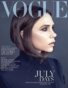 Magazine Cover: Victoria Beckham for Vogue Korea July 2016 issue captured by fashion photographer Hyea W. Kang.