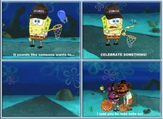 Spongebob Five Nights at Freddy's | Animatronics at Freddy's Five Nights
