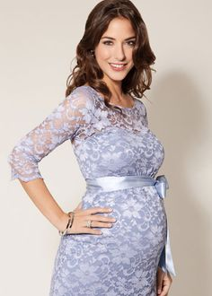 Amelia Maternity Dress Short Misty Lilac