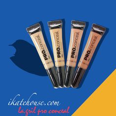 LA GIRL Pro Conceal! The long-wearing formula camouflages darkness under the eyes, redness and skin imperfections http://www.ikatehouse.com/la-girl-conceal.html #ikatehouse #affordable #cheap #lashes #lagirl #cosmetics #makeup #onlineshop #beautiful #girl #woman #mineral #concealers #longlasting #face #beauty #proconceal