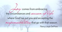 nancy demoss | Grateful for this today . . .