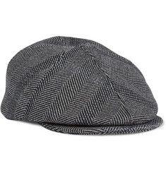 Burberry ProrsumHerringbone Wool-Blend Flat Cap