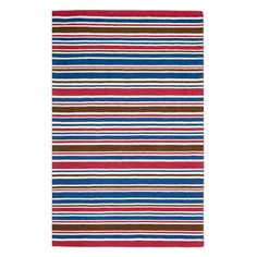 Colorful stripe rug