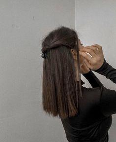 Hair Day, New Hair, Pretty Hairstyles, Easy Hairstyles, Straight Hairstyles, Hair Inspo, Hair Inspiration, Aesthetic Hair, Dream Hair