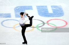 Yuzuru Hanyu of Japan performs during the Figure Skating Men's Free Skating on day seven of the Sochi 2014 Winter Olympics at Iceberg Skating Palace on February 14, 2014 in Sochi, Russia.