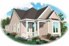 Cottage Style House Plan - 2 Beds 2 Baths 1206 Sq/Ft Plan #81-160 Exterior - Front Elevation - Houseplans.com