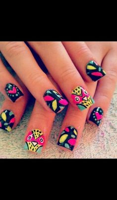 Just found this cool nail art wish I had those nails