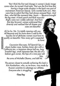 Tina Fey gets it right. This is the greatest thing I have ever seen, you have to read the whole thing.