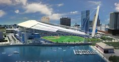 I found a website with an extensive gallery of failed ballpark proposals. It's REALLY cool to see what could've happened, but didn't. In th...