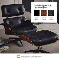 Eames lounge chair is one of the most iconic designs of the 20th century and is now available in all white version from Barcelona Designs and get a George Nelson Clock with it absolutely free. No hidden charges! #furnituresale #interiordesigns #midcentu https://emfurn.com/collections/mid-century-modern