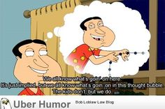 we all know what's going on here. Family Guy. Quagmire