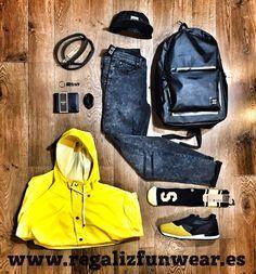 #FunwearLook of the day / Mochila y cartera @herschelsupply / #Sneakers @diadora / @stancesocks / #Pitillos @cheapmonday / #gabardina @rainsjournal / #5Panel @dedicatedbrand / #cinturon @rvltbrand / #llavero @deuscustomsC/ Cano 5 #LasPalmas de #GranCanaria  http://ift.tt/1lUh2Zo  #bexclusive #befunwear  #lookoftheday #outfitoftheday