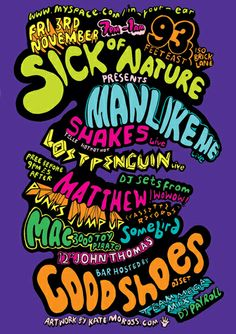 Just Google Image - Kate Moross and you'll get the idea