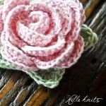 crochet rose from Hille Knits
