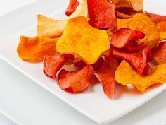 Chips de legumes au four - Recette de cuisine Marmiton : une recette
