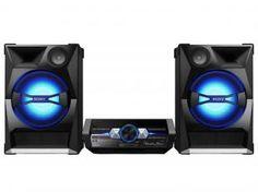 Mini System Sony 1CD 1800W RMS - Função MP3 Ripping Conexão USB - Shake 33