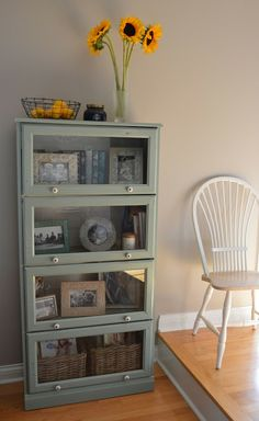 Laura's Glass Cabinet makeover using Annie Sloan Chalk Paint