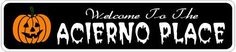 ACIERNO PLACE Lastname Halloween Sign - 4 x 18 Inches by The Lizton Sign Shop. $12.99. 4 x 18 Inches. Aluminum Brand New Sign. Great Gift Idea. Predrillied for Hanging. Rounded Corners. ACIERNO PLACE Lastname Halloween Sign 4 x 18 Inches - Aluminum personalized brand new sign for your Autumn and Halloween Decor. Made of aluminum and high quality lettering and graphics. Made to last for years outdoors and the sign makes an excellent decor piece for indoors. Great for the...