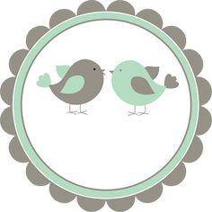 Logotipo grátis tema passarinhos - Cantinho do blog Printable Banner, Printables, Scrapbook Frames, Bird Party, Photo Booth, Coloring Pages, Diy And Crafts, Clip Art, Baby Shower