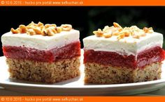 Cake Bars, Dessert Recipes, Desserts, Something Sweet, Sweet And Salty, Vanilla Cake, Sweet Recipes, Cheesecake, Food And Drink