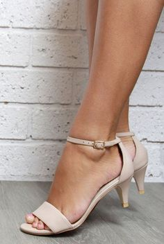 True Romance Bridal Shoes Nude, Discount code: FSPINTEREST. Wedding shoes, beach wedding, ankle strap heels, small comfortable heels, Forever Soles