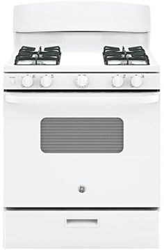 GE JGBS10DEKWW 30 Gas Freestanding Range with 4 Burners Open Burner 48 cu ft Primary Oven Capacity in White ** Find out more about the great product at the image link. (This is an affiliate link and I receive a commission for the sales)
