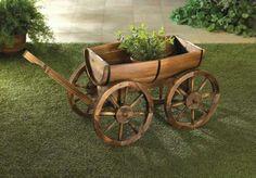 Wooden Wine Barrel Wagon ..