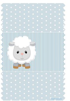FREE printable blue lamb baby shower kit