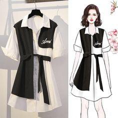Girls Fashion Clothes, Teen Fashion Outfits, Cute Fashion, Stylish Outfits, Fashion Drawing Dresses, Fashion Illustration Dresses, Fashion Dresses, Mode Kpop, Korean Girl Fashion