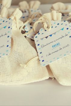 Bolsas con denario #bolsas #souvenir #denarios #bautismo