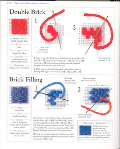 """Photo from album """"Stitch Sampler"""" on Yandex. Plastic Canvas Stitches, Plastic Canvas Tissue Boxes, Plastic Canvas Patterns, Hardanger Embroidery, Diy Embroidery, Embroidery Stitches, Needlepoint Stitches, Sewing Stitches, Needlework"""