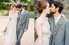 costume 3 pièces gris mariage